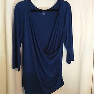 Lane Bryant blue blouse 18/20